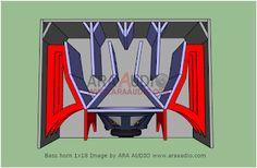 Skema Box Bass Horn D2 18 inch   ARA AUDIO