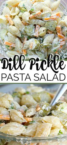 Calling all dill pickle lovers, this salad recipe is for you! This creamy Dill Pickle Pasta Salad is THE BEST and has the tangy flavour of crunchy pickles, fresh dill, cheese, mayo and sour cream. It's the perfect side for any BBQ or summer meal. Best Pasta Salad, Pasta Salad Recipes, Food Salad, Summer Pasta Salad, Healthy Macaroni Salad, Picnic Salad Recipes, Easy Summer Meals, Summer Recipes, Summer Meal Ideas