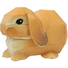 free PDF 3D DIY tutorial download.  Easter: rabbit bunny Holland Lop,Animals,Paper Craft,Europe,Netherlands,Mammals ,rabbit,Animals,Paper Craft,Pet series,easy