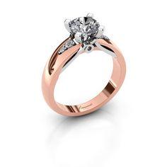 Ize ring - Ontwerp jouw verlovingsring online - DiamondsbyMe #engagementring #whitegold #redgold #pinkgold #rosegold #bigdiamond #diamonds #diamondsbyme #canyousayno?