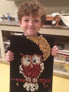Owl Bean Mosaic