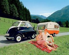 Camping with a BMW Isetta