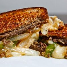 Grilled Roast Beef And Cheese Sandwich