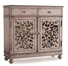 Melange Filigree 2 Drawer Hall Cabinet