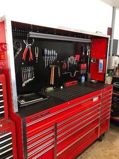 72 in. x 22 In. Tool Storage Cabinets, Garage Tool Storage, Garage Tools, Garage Paint Ideas, Garage House, Garage Shop, Dream Garage, Tool Box Diy, Custom Tool Boxes