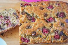 Dark Chocolate Raspberry Banana Bread. I actually made this last week and it's pretty good. A little strange in flavor combinations but good! I used Splenda sugar blend to save even more calories. :)