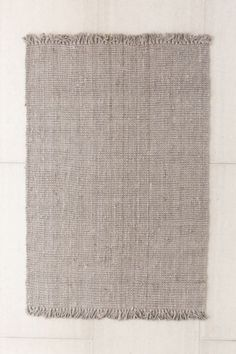 Chunky Fringe Woven Jute Rug   Urban Outfitters
