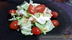 """Фото приготовления рецепта: Салат """"Цезарь"""" с курицей - шаг №13"""