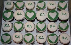 Kappa Delta cupcakes