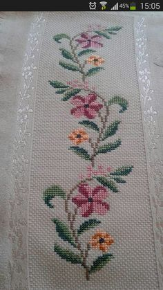 Discover thousands of images about Resultado de imagem para bargello hardanger Cross Stitch Borders, Cross Stitch Rose, Cross Stitch Flowers, Cross Stitch Designs, Cross Stitching, Cross Stitch Embroidery, Embroidery Patterns, Hand Embroidery, Cross Stitch Patterns