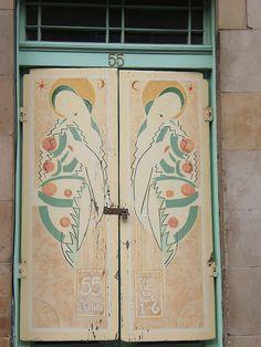 Deco door by lightlycrazed, via Flickr