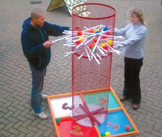 Life sized Kerplunk!! Great idea for back yard games!!