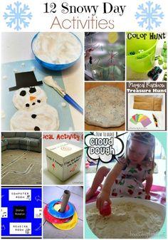 12 DIY snow day activities