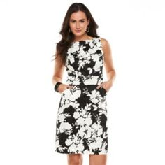 Chaps Floral Sheath Dress - Women's