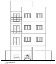 Projeto Arquitetônico: Fachada frontal