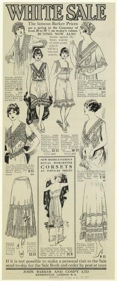 White sale. (1918)