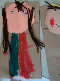 all about me paper bag puppets - to make a writing assignment, maybe add a pocket and fill with facts about self
