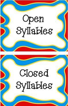 This is a video that shows how to best teach open and closed syllables in Syllable Juncture: Feature L.