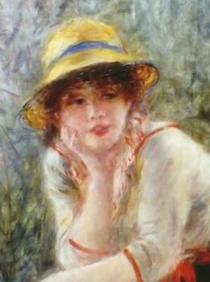 Pierre Auguste Renoir (1841-1919) -  Alphonsine Fournaise, (dettaglio Luncheon of the Boating Party) - 1881 - Phillips Collection, Washington)