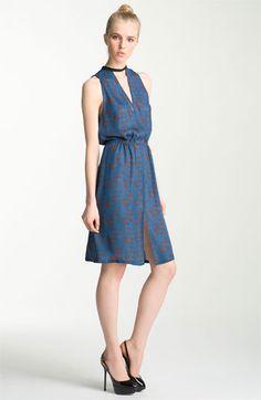 A.L.C. 'Kenyatta' Cutout Print Silk Dress available at Nordstrom
