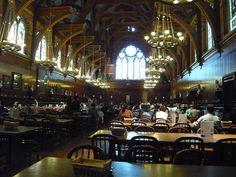 Freshmen dining hall at Harvard