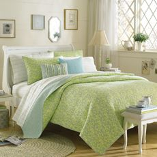 Really like the soft green and blue on this bedding/quilt from Bed Bath and Beyond