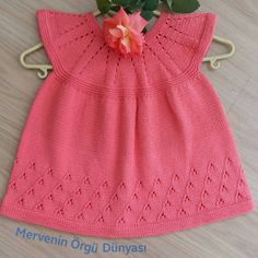 Discover thousands of images about Pink baby sw Baby Knitting Patterns, Baby Clothes Patterns, Knitting For Kids, Crochet For Kids, Free Knitting, Crochet Doll Pattern, Crochet Yarn, Crochet Patterns, Knit Baby Dress