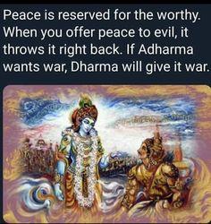 You can& be tolerant against intolerance. Sanskrit Quotes, Gita Quotes, Hindu Quotes, Spiritual Quotes, Mahabharata Quotes, Hindu Vedas, Radha Krishna Love Quotes, Interesting Facts About World, India Facts