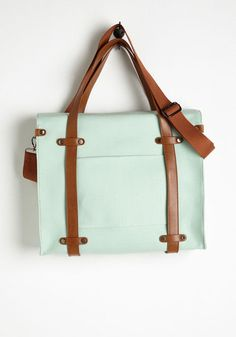 Camp Director Tote in Mint. When the cabins are finally shuttered for the season, you arent one to simply swing in a hammock! #mint #modcloth
