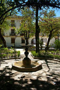 Fountain in Alameda del Tajo Park  Ronda Málaga