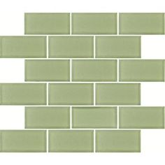 MS International Mint Green Subway 12 in. x 12 in. Glass Mesh-Mounted Mosaic Tile-GLSST-MG8MM at The Home Depot