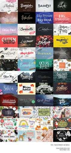 Our latest bundle is now here!! Crammed full of 48 products, this amazing pack is over 96% OFF RRP! Including 43 of the most popularfonts of the month, get this collection today for just $29. As always this pack comes complete with a full commercial license, allowing you to use all products across a wide range of commercial and personal projects.