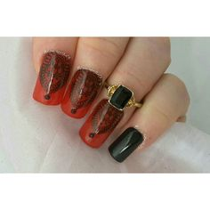 Red and black mani for @whencolourscollide collaboration this week very simple but I was really happy with the end result  by louisenails