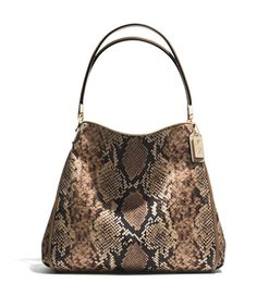 COACH MADISON SMALL PHOEBE IN PYTHON PRINTED FABRIC