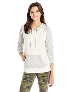 Billabong Juniors Taking Names Color Block Pullover Hoodie Iced Athletic Grey Large >>> More info could be found at the image url.