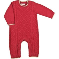 Cable Front onsie