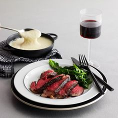 Grilled Rib Steak with Brandy-Peppercorn Sauce by Lee Hefter, BNC '98. More Tasty Steak Recipes: http://www.foodandwine.com/slideshows/steak #foodandwine #BNC25