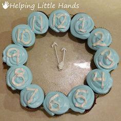 New Year's Clock Cupcakes