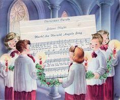 Old Christmas Post Cards — Christmas Carols Images Vintage, Vintage Christmas Images, Vintage Holiday, Christmas Pictures, Vintage Cards, Vintage Stuff, Christmas Post, Christmas Music, Retro Christmas