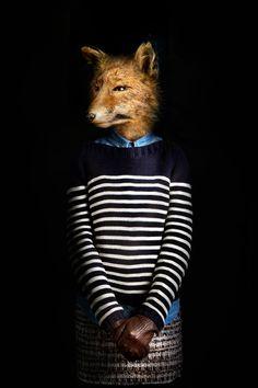 人間の服をファッショナブルに着こなした動物たちの肖像画シリーズ「Segundas Pieles」