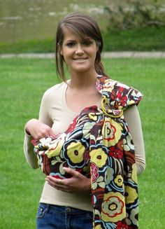 Love this baby sling carrier...could make for a baby shower!!