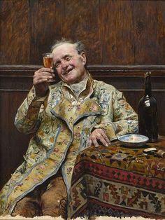 José Jiménez Aranda (1837-1903) - The Happy Drinker