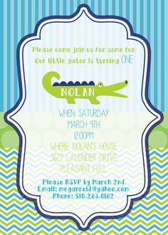 Swamp Alligator Birthday Invitation Party   by TucksFinishingTouch, $12.00