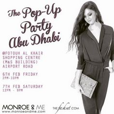 ATTENTION ladies of Abu Dhabi! We are here for one more day, come and shop with us! #FashionEventsAbuDhabi #FashionEventsUAE #abudhabi #ThePopUpPartyAbuDhabi #fashion #style #monroeandme #ss15 #sale #newin #thefashset #accessories #jewellery