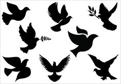 Religious Silhouette Clip Art   Dove clip art Packcategory: General Vector Graphics
