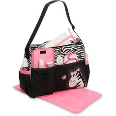 Baby Boom - Diaper Bag, Zebra - cute but might be too big for Tahlia