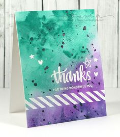 Watercolor Background – Make a Card Monday #265 Kristina Werner So pretty and so doable!