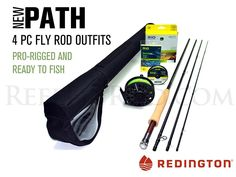 Redington Path 590-4 Fly Rod Outfit (9'0', 5wt, 4pc) ** Click on the image for…