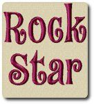 Rock Star Embroidery Font by 8Clawsandapaw.com