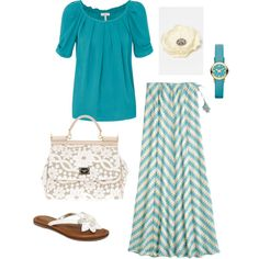 Cute complete Summer outfit...Long maxi  skirt